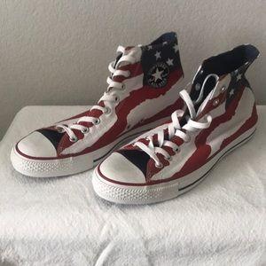 Men's 10 American Flag Converse NWOT